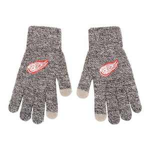 NHL Detroit Red Wings Gray Knit Gloves