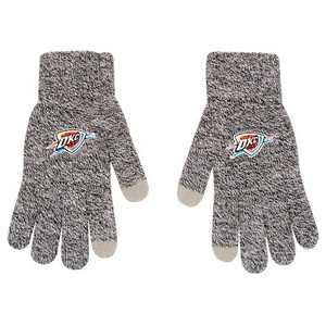 NBA Oklahoma City Thunder Gray Knit Gloves