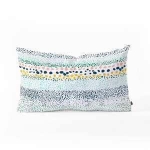 Ninola Design Little Dots Oblong Lumbar Throw Pillow Blue - Deny Designs