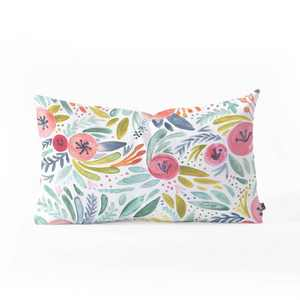 Dash And Ash Poppy Lane Oblong Lumbar Throw Pillow Blue - Deny Designs