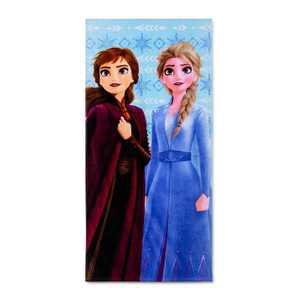 Frozen 2 Diamond Snowflake Beach Towel Blue - Disney