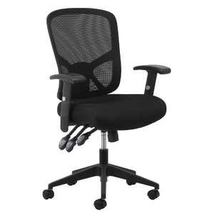 Essentials Collection 3 Paddle Ergonomic Mesh High Back Task Chair with Arms and Lumbar Support Black - OFM