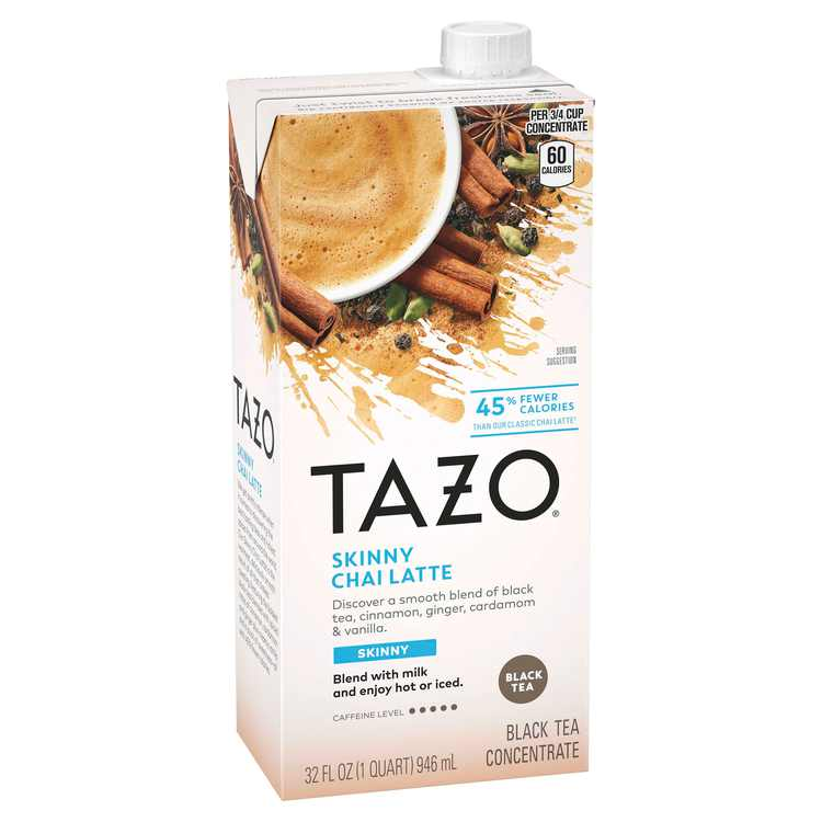 Tazo Skinny Chai latte Black Tea Concentrate Black tea 32 oz