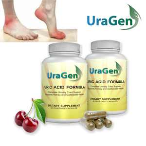 Uric Acid Cleanse Flush - Supports Healthy Uric Acid Levels & Healthy Kidney Function - Potent Tart Cherry Extract - New Lowering Formula, 120 VCaps - (UraGen 2 Bottles - 120 caps)