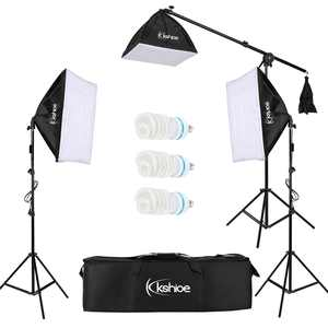 Zimtown Photo Studio Photography 3 Softbox Light Stand Continuous Kit Cost-Effective HOT