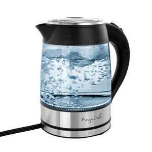 MegaChef 1.8 Liter Glass and Stainless Steel Electric Tea Kettle