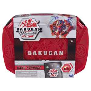 Bakugan, Baku-Storage Case with Fused Dragonoid x Tretorous Collectible Action Figure and Trading Card (Red and Black)