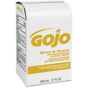Gojo, GOJ912712CT, Refill Gold/Klean Antimicrobial Lotion Soap, 12 / Carton, 27.1 fl oz (800 mL)