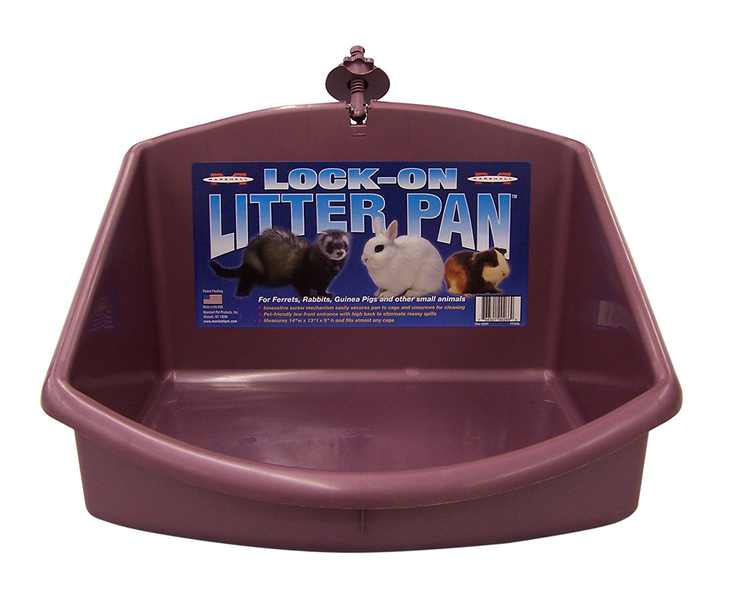 Marshall Lock-On Ferret Litter Pan(Color May Vary), The Marshall lock on litter pan has an innovative screw mechanism By Marshall Pet Products