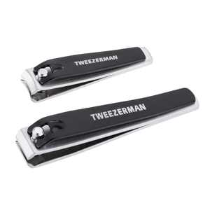 Tweezerman 2 Piece Stainless Steel Nail Clipper Set for Nail Care