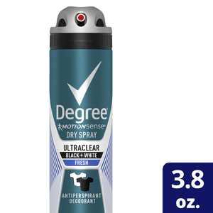 Degree Men UltraClear Black & White Fresh Antiperspirant Deodorant Dry Spray, 3.8 Oz.