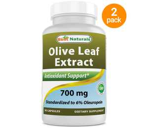 2 Pack - Best Naturals Olive Leaf Extract 700 mg 90 Capsules (Total 180 Capsules)