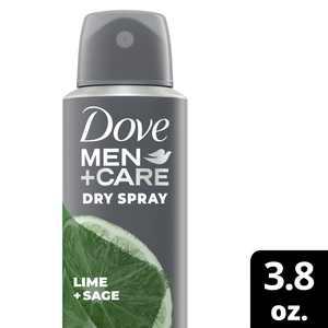 Dove Men+Care Antiperspirant Dry Spray Lime + Sage 3.8 Oz.