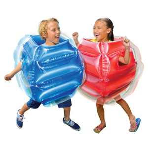 BANZAI Bump N Bounce Inflatable 2PC Body Bumpers - Sumo Bumper Bopper Body Bubble Ball Toy for Kids