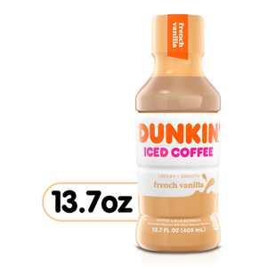 Dunkin' French Vanilla Iced Coffee Bottle, 13.7 fl oz