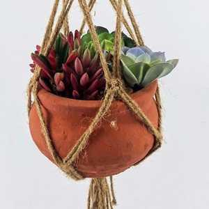 40.94 Gardening Supplies Vintage Knotted Macrame Braided Plant Hanger Jute Rope Pot Holder Hanging Planter Basket Flowerpot Lifting