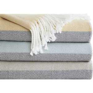 """Home Essence Apartment Zoe Color Block Throw Blanket, 50"""" x 60"""", Taupe"""