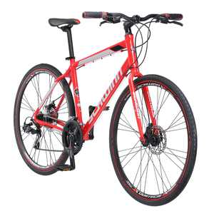 Schwinn Kempo Hybrid Bike, 700c wheels, 21 speeds, mens frame, red