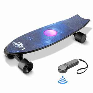 VIVI 28'' 350W Electric Skateboard Galaxy with Remote Control 350W 18.6 MPH Electric Longboard  for Adults, Kids, Youths