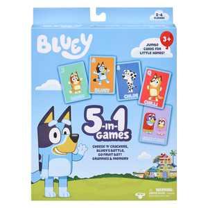 Bluey 5 in 1 Games: Cheese 'N' Crackers, Bluey's Battle, Go Fruit Bat!, Grannies & Memory, 5 in 1 Card Game Set, Preschool, Ages 3+