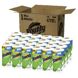 Bounty Select-A-Size Single Plus 2-Ply Paper Towels, 74 Sheets Per Roll, Pack Of 24 Rolls