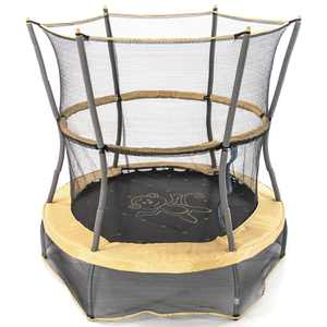 Skywalker Trampolines 55-Inch Bounce-N-Learn Trampoline, with Enclosure and Sound, Monkey