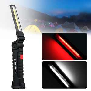 Cordless Led Work Light, TSV Portable Rechargeable COB Led Flashlight 700Lm 3W Flood Light Torch with Magnetic Stand for Car Repairing, Workshop, Garage, Camping, Emergency Lighting (big)