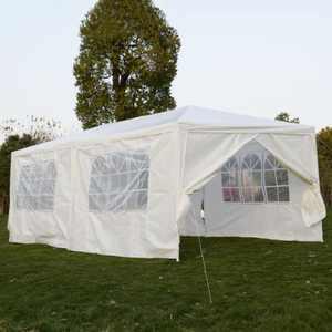 Zimtown 10' x 20' Party Tent Wedding Canopy Gazebo Wedding Tent Pavilion w/6 Sides 2 Doors