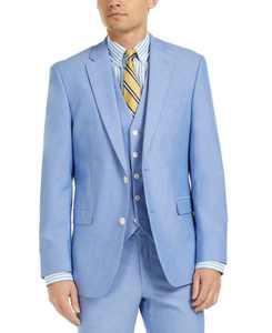 Men's Modern-Fit Flex Stretch Chambray Suit Jackets