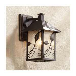 "Franklin Iron Works French Garden 10 1/2"" High Bronze Outdoor Wall Light"