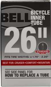 "Bell Sports Standard Bicycle Inner Tube, 26"" x 1.75-2.25"", 35mm Schrader Valve"