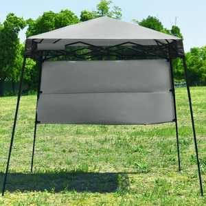 Topbuy 7x7 FT Pop-up Canopy Portable Outdoor Offset Tent w/Carry Bag Grey