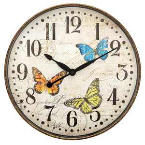 "Westclox 12"" Round Butterfly Wall Clock"