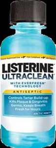 3 Pack - Listerine Ultraclean Mouthwash, Artic Mint 3.21 oz