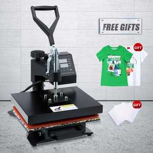 Preenex 12x10 in Heat Press Machine withTransfer Sheets 360 Swivel for T Shirts More 900W