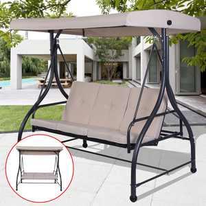 Costway Canopy Fabric Porch Swing - Beige
