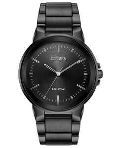 Men's Eco-Drive Axiom Gray Stainless Steel Bracelet Watch 41mm