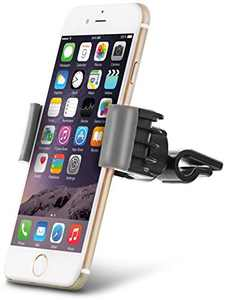 """Aduro U-GRIP SWIVEL Universal Smartphone Air Vent Car Mount Holder with 360° Rotating swivel head compatible Apple iPhone, Samsung Galaxy, HTC and all Devices up to 6"""" (Gray)"""