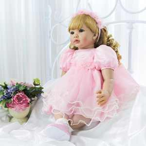 """UBesGoo 24"""" Realistic Reborn Lifelike Baby doll Silicone Girl Toy Dressed in Pink"""