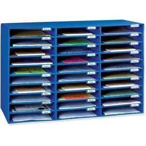 "Classroom Keepers 30 Slot Mailbox, Blue, 21""H x 31.63""W x 12.75""D Piece"