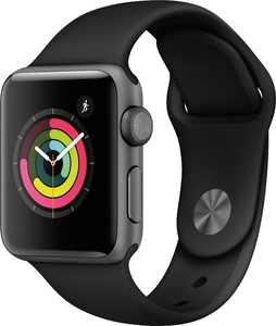 Apple Watch Series 3 (GPS) 38mm Space Gray Aluminum Case with Black Sport Band - Space Gray Aluminum