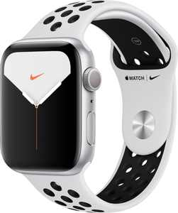 Apple Watch Nike Series 5 (GPS) 44mm Silver Aluminum Case with Pure Platinum/Black Nike Sport Band - Silver Aluminum