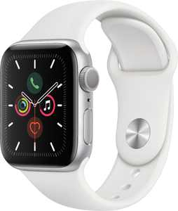 Apple Watch Series 5 (GPS) 40mm Silver Aluminum Case with White Sport Band - Silver Aluminum