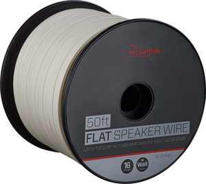 Rocketfish - 50' Spool Ultra-Flat Speaker Wire - White