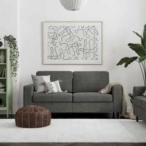 DHP Cooper Sofa, Gray Linen