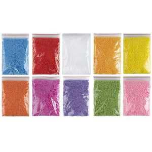 Foam Beads for Slime - 90,000-Piece Slime Beads, 0.08-Inch Micro Foam Balls for Slime Making, Arts and Crafts, DIY Projects, Home Decorations, Assorted Color, 10 Colors