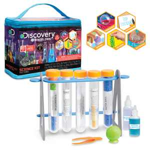 Discovery Kids Test Tubes Science 19-Piece Kit with 5 Educational Experiments