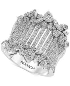 EFFY Diamond Wide Statement Ring (1 ct. t.w.) in 14k White Gold
