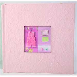 beverly clark 203ag 200 photo baby album - pink