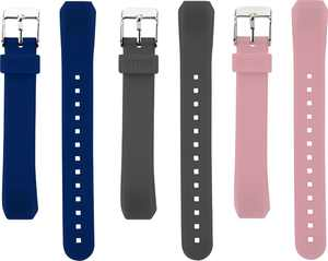 WITHit - Band Kit for Fitbit Alta and Alta HR (3-Pack) - Gray/Navy/Pink